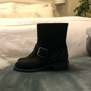 Barney's Suede Black Booties size 7.5